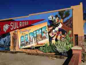 Alpine Texas Sul Ross mural