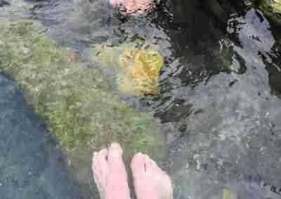 soaking feet in hot springs big bend