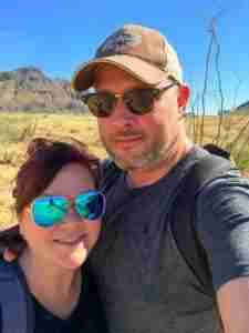 Adam and Stef in Big Bend National Park Texas
