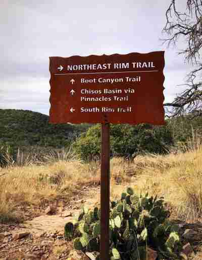 Big_Bend_Trail_Head_Sign_Northeast Rim Trail