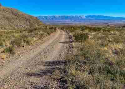 Road to Pine Canyon Trail in Big Bend National Park